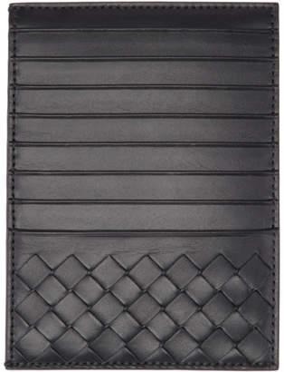 Bottega Veneta Black Multi Slot Intrecciato Card Holder
