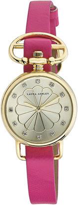 Laura Ashley Ladies Pink/Gold Heirloom Watch La31001Yg $295 thestylecure.com