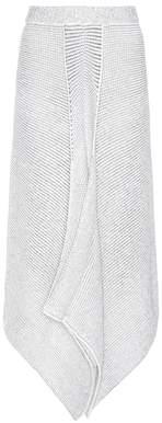 Stella McCartney Asymmetric wool-blend knitted skirt