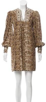 Nieves Lavi Silk Mini Dress