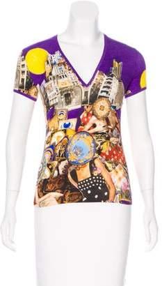 Versace Collage Print Short-Sleeve T-Shirt