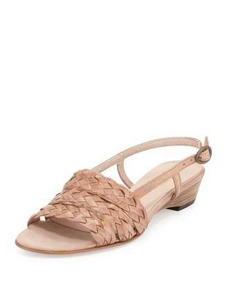 Sesto Meucci Ginny Woven Slingback Sandal, Natural $365 thestylecure.com