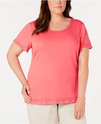 Karen Scott Plus Size Studded Top