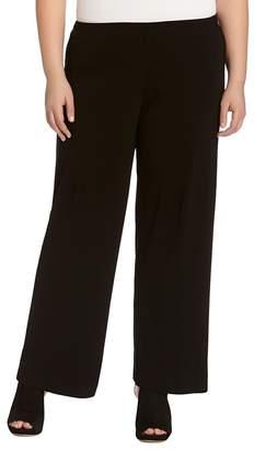 Karen Kane Plus Matte Jersey Wide-Leg Pants
