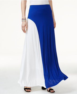 INC International Concepts Colorblocked Maxi Skirt, Only at Macy's $79.50 thestylecure.com