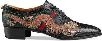 Gucci Leather lace-up shoe with dragon