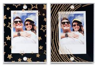 L'ge INSTAX MINI BY FUJIFILM LGE Magnetic Frames - Black-Gold & Stars-Stripes - Pack of 2
