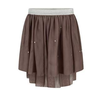 Kate Mack Kate MackBrown Tulle Skirt With Crystals