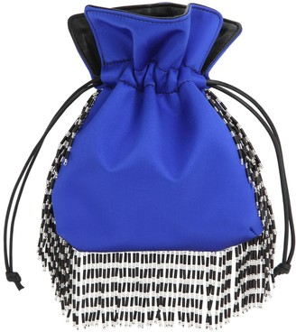 Les Petits Joueurs NANOTRILLY SATIN CLUTCH W/CRYSTAL FRINGE