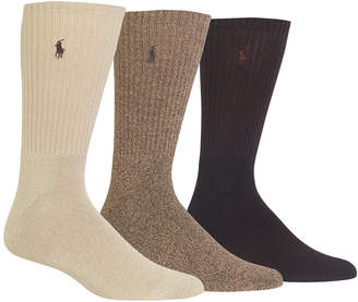 Polo Ralph Lauren Men's 3-Pk. Twisted Crew Casual Socks