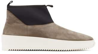 Fear Of God Polar Wolf Neoprene And Suede Boots - Mens - Brown