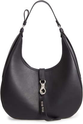 ea36f219d719 Miu Miu Medium Grace Lux Calfskin Leather Hobo
