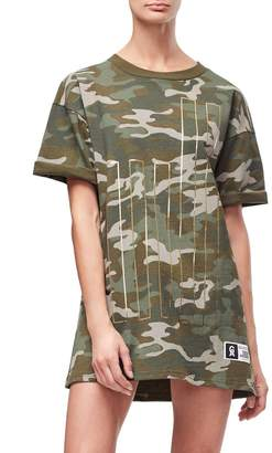 Good American Goodies Cinched Waist Camo Tee - Camo001