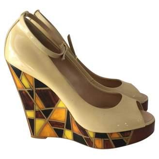 Giuseppe Zanotti Beige Patent leather Heels