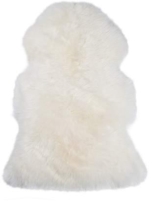 Scandinavian NSW Leather Co Sheepskin Animal Hide Rug, Sheepskin White