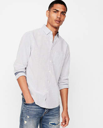 Express Classic Soft Wash Striped Button Collar Shirt
