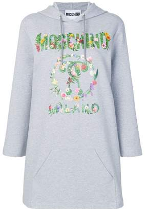 Moschino floral print logo hoodie