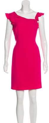 Armani Collezioni Ruffled Silk Dress