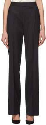 Max Mara Navy Pinstripe Giglio Trousers