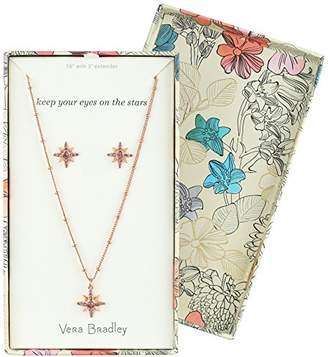 Vera Bradley Womens Sparkling Star Earring Jewelry Set
