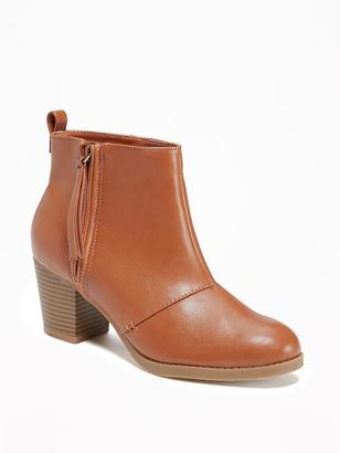Faux-Leather Side-Zip Boots for Women $42.94 thestylecure.com