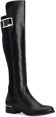Calvin Klein Women's Cyra Wide-Calf Over-The-Knee Boots $199 thestylecure.com