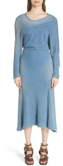 ATLEIN Waffle Knit Sweatshirt Dress