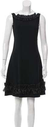 Miu Miu Silk-Trimmed Mini Dress