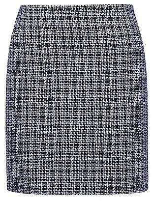 HUGO BOSS Pencil miniskirt in mid-weight tweed