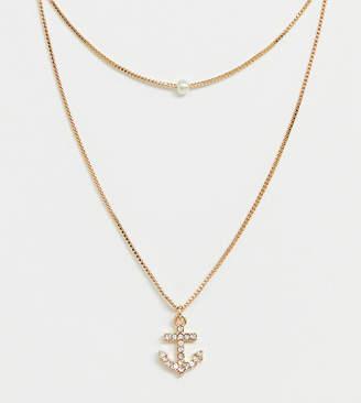 988a9c56ae7 Aldo Melassa anchor charm necklace in gold