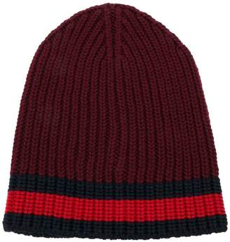 Gucci Web trim knitted beanie