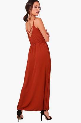 boohoo Strappy Back Maxi Dress