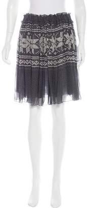 Dolce & Gabbana Silk Print Skirt