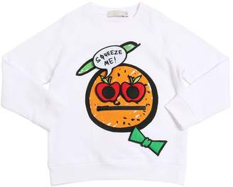 Stella McCartney Orange Printed Cotton Sweatshirt