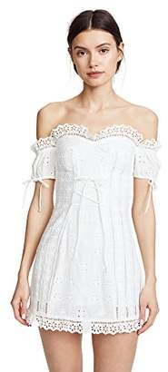 For Love & Lemons Women's Anabelle Eyelet Lace Up Dress