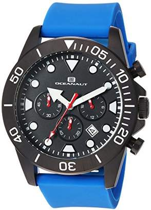 Oceanaut Men's 'Naval' Quartz Stainless Steel and Silicone Casual Watch