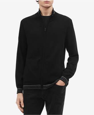 Calvin Klein Men's Tipped Cardigan Sweater