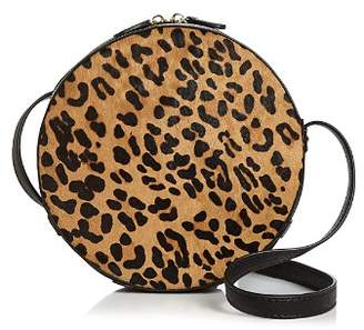 Aqua Medium Leopard-Print Calf Hair Crossbody - 100% Exclusive