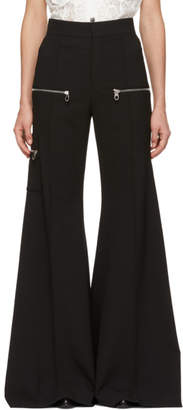 Chloé Black Wool Bellbottom Trousers