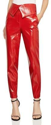 BCBGMAXAZRIA Faux Patent Leather Pants