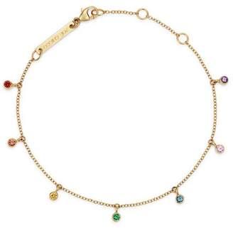 Chicco Zoë 14K Yellow Gold Rainbow Sapphire Adjustable Dangle Bracelet