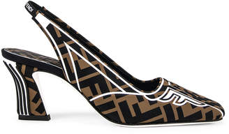 Fendi FFreedom Slingback Heel in Black & Brown | FWRD