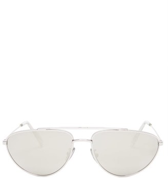 Celine Mirrored Aviator Metal Sunglasses - Womens - Silver