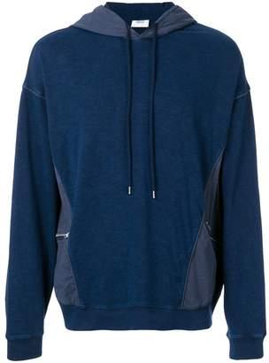 Closed panelled hoodie