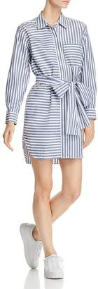 Current/Elliott The Alda Striped Shirt Dress