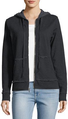 Allen Allen Zip-Front Cotton-Blend Hoodie $69 thestylecure.com