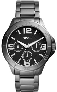 Fossil Men's Privateer Sport Smoke Stainless Steel Watch (Style: BQ2297)