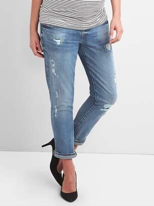 Gap Maternity Demi Panel Repaired Girlfriend Jeans