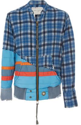 Greg Lauren Plaid Nylon Zip Jacket