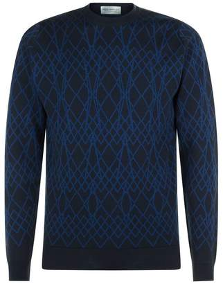 John Smedley Linear Merino Wool Sweater